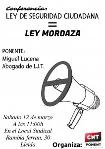 CartelLeyMordaza
